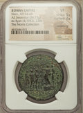 Ancients:Roman Imperial, Ancients: Nero (AD 54-68). AE sestertius (33mm, 24.73 gm, 6h). NGC VF 5/5 - 2/5, smoothing....