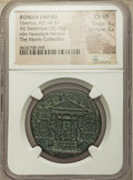 Ancients:Roman Imperial, Ancients: Tiberius (AD 14-37). AE sestertius (33mm, 25.28 gm, 5h).NGC Choice VF 4/5 - 2/5....