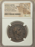 Ancients:Roman Imperial, Ancients: Divus Antoninus Pius (AD 138-161). AE sestertius (32mm,24.93 gm, 1h). NGC Choice Fine★ 5/5 - 4/5....