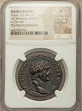 Ancients:Roman Imperial, Ancients: Trajan (AD 98-117). AE sestertius (33mm, 24.51 gm, 6h).NGC XF 5/5 - 3/5, Fine Style....