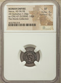 Ancients:Roman Imperial, Ancients: Nerva (AD 96-98). AR quinarius (14mm, 1.34 gm, 7h). NGC XF 4/5 - 3/5....