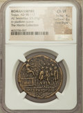Ancients:Roman Imperial, Ancients: Trajan (AD 98-117). AE sestertius (33mm, 25.29 gm, 6h).NGC Choice VF 4/5 - 3/5, Fine Style....