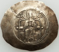 Ancients:Byzantine, Ancients: Isaac II Angelus, first reign (AD 1185-1195). EL asprontrachy (32mm, 3.98 gm, 6h). NGC AU 5/5 - 3/5, marks....