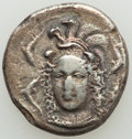 Ancients:Greek, Ancients: SICILY. Syracuse. Dionysus I (405-367 BC). AR drachm (18mm, 3.80 gm, 10h). NGC (photo-certificate) Choice Fine 4/5 - 2/5, scra...