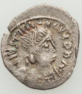 Ancients:Byzantine, Ancients: Justinian I the Great (AD 527-565). AR 1/4 siliqua?(14mm, 0.64 gm, 5h). NGC (photo-certificate) AU 4/5 - 3/...
