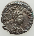 Ancients:Roman Imperial, Ancients: Valentinian III, Western Roman Empire (AD 425-455). AR half-siliqua (13mm, 0.87 gm, 12h). NGC (photo-certificate) AU 4/5 - 2/5...