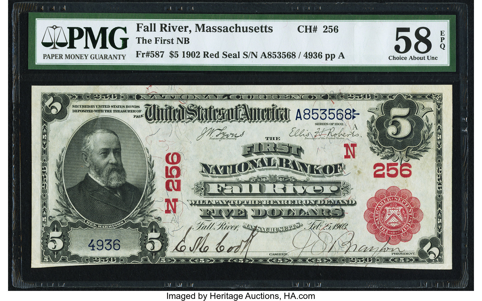 Fall River, MA - $7 7 Red Seal Fr. 787 The First NB Ch. # (N