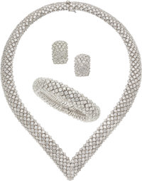 Diamond, White Gold Jewelry Suite, Adler