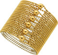 Estate Jewelry:Bracelets, Gold Bracelet, Cartier The 18k gold Draperi...