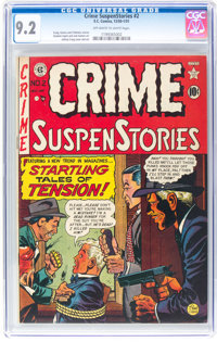 Crime SuspenStories #2 (EC, 1950) CGC NM- 9.2 Off-white to white pages