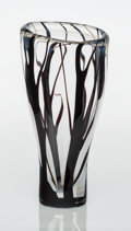 Glass, Vicke Lindstrand (Swedish, 1904-1983). Trees in Mist Vase, circa 1950, Kosta Glasbruk. Glass. 12-1/2 x 6 inches (31.8 x ...