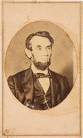 Political:Small Paper (pre-1896), Abraham Lincoln: Wenderoth & Taylor [After] Carte-de-Visite....