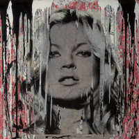 Mr. Brainwash (French, b. 1966) Kate Moss Fragile, 2013 Silkscreen and acrylic on heavy wove paper