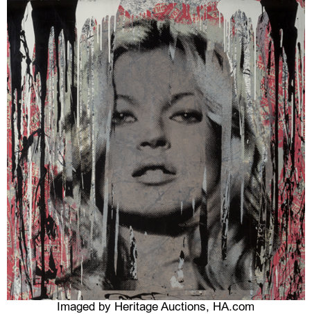 Mr. Brainwash (French, b. 1966)Kate Moss Fragile, 2013Silkscreen and acrylic on heavy wove paper48 x 48 inches (12...