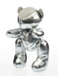Collectible:Contemporary, Hajime Sorayama X Lane Crawford X APPortfolio. Teddy Bear (Silver), 2018. Plush toy. 12 x 7 x 5-1/2 inches (30.5 x 17.8 ...