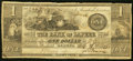 Obsoletes By State:Michigan, Lapeer, MI- Bank of Lapeer $1 Feb. 12, 1838 Very Good-Fine.. ...