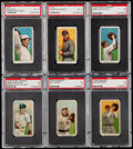 Baseball Cards:Lots, 1909-11 T206 Piedmont/Sweet Caporal PSA Graded Collection (6)....