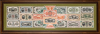 American Bank Note Company Display of Rare and Scarce Proofs from the Early Ta-Ching Government Bank and Bank of China I...