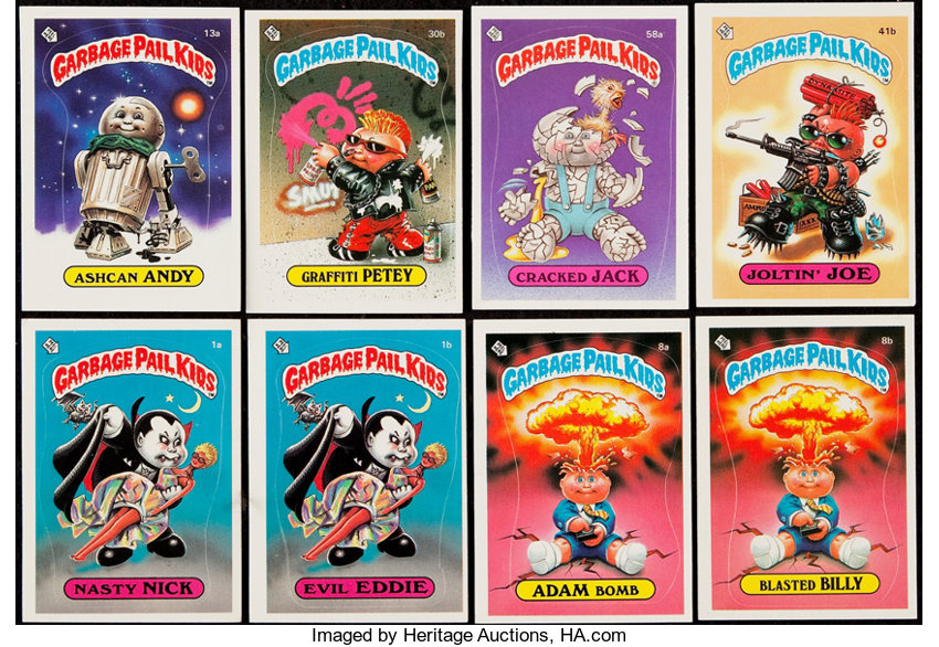 """1985-86 Topps """"Garbage Pail Kids"""" Complete Sets - Series 1 Through 