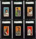 Baseball Cards:Lots, 1909-11 T206 Piedmont/Sweet Caporal SGC Graded Collection (6)....
