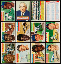 1956 Topps Baseball Near Set (336/340) With Both Checklists & Signed Herb Score Card