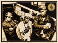 Prints & Multiples:Print, Shepard Fairey (b. 1970). Public Enemy, 2007. Screenprint in colors on speckled cream paper. 18 x 24 inches (45.7 x 61 c...