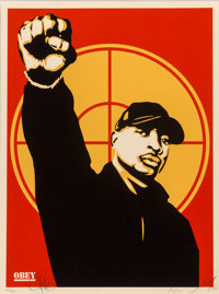 Shepard Fairey (b. 1970) Chuck D 2007, 2007 Screenprint in colors on speckled cream paper 24 x 18