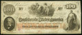 Confederate Notes:1862 Issues, T41 $100 1862 PF-17 Cr. 318 About Uncirculated.. ...