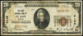 National Bank Notes:Kansas, Le Roy, KS - $20 1929 Ty. 1 The First NB Ch. # 6149 Gem Crisp Uncirculated.. ...
