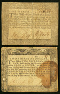 Colonial Notes:Maryland, Maryland August 14, 1776 $1/9 Fine;. Maryland December 7, 1775 $2/3 Fine.. ... (Total: 2 notes)