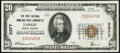 National Bank Notes:North Dakota, Fargo, ND - $20 1929 Ty. 1 The First NB & TC Ch. # 2377 Very Fine.. ...