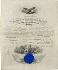 Autographs:U.S. Presidents, Chester Alan Arthur: Signed Naval Appointment....
