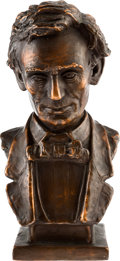Political:3D & Other Display (1896-present), Abraham Lincoln: Bronze Bust by Meyer....