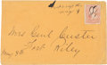 Autographs:Military Figures, George A. Custer: Envelope Addressed by Him to His Wife....