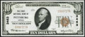 National Bank Notes:Kansas, Pittsburg, KS - $10 1929 Ty. 1 The First NB Ch. # 3463 Crisp Uncirculated.. ...