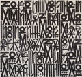 Fine Art - Painting, American, RETNA (American, b. 1979). Serenity of the mind States Momentsof dark days allows Soaring like a search light -High-, 2...