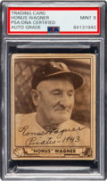 Baseball Collectibles:Others, 1940 Honus Wagner Signed Play Ball #168 Card, PSA/DNA Mint 9....