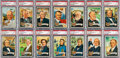 Non-Sport Cards:Sets, 1956 Topps U.S. Presidents PSA-Graded Partial Set (19) - Almost allMINT 9!...