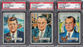 Non-Sport Cards:Lots, 1972 Topps - U. S. Presidents PSA Mint 9 Trio (3). ...