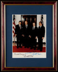 Autographs:Photos, United States Presidents (Reagan, Ford, Carter, Nixon) Multi-Signed Framed Photograph....