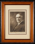 Miscellaneous Collectibles:General, President Warren G. Harding Signed Framed Photograph....