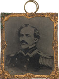 Photography:Tintypes, Robert E. Lee: Sixteenth Plate Abbott Tintype. 1 3...