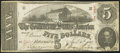 Confederate Notes:1863 Issues, T60 $5 1863 PF-4 Cr. 450 Fine-Very Fine.. ...
