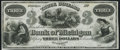 Obsoletes By State:Michigan, Marshall, MI- Bank of Michigan $3 18__ Remainder Crisp Uncirculated.. ...