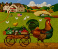 Fine Art - Painting, American, Charles Wysocki (American, 1900-1999). Rooster Express. Oilon canvas. 19-3/4 x 24 inches (50.2 x 61.0 cm). Signed lower...