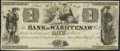 Obsoletes By State:Michigan, Ann Arbor, MI- Bank of Washtenaw $1 May 9, 1835 Remainder Extremely Fine-About Uncirculated.. ...