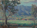 Fine Art - Painting, American, Hanson Duvall Puthuff (American, 1875-1972). Homestead at theFoothills. Oil on canvas laid on panel. 9 x 12 inches (22....