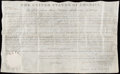 Miscellaneous Collectibles:General, 1823 James Monroe Signed Land Grant....