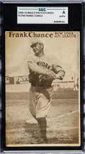 Baseball Cards:Singles (Pre-1930), 1909-16 PC758 Max Stein Postcards Frank Chance SGC Authentic...