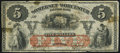 Obsoletes By State:Maryland, Salisbury, MD- Somerset and Worcester Savings Bank $5 Nov. 1, 1862 Fine.. ...